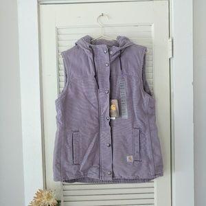 Carhartt Purple Sherpa Lined Hooded Vest
